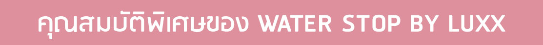 สเปรย์กันน้ำสำหรับรองเท้าและกระเป๋าแบรนด์เนม WATER STOP BY LUXX
